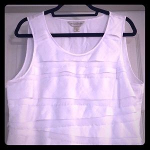 "White Christopher & Banks ""Dressy"" Tank"